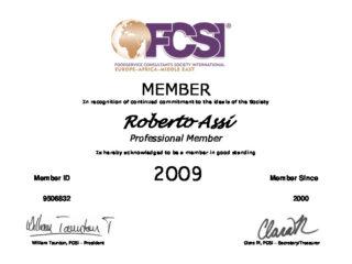 MEMBER Certif 2009 Roberto Assi