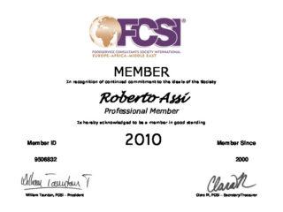 MEMBER Certif 2010 Roberto Assi