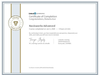 CertificateOfCompletion_Navisworks Advanced