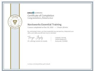 CertificateOfCompletion_Navisworks Essential Training 2