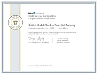 CertificateOfCompletion_Solibri Model Checker Essential Training