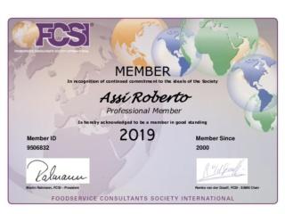 R. Assi Member Certificate 2019